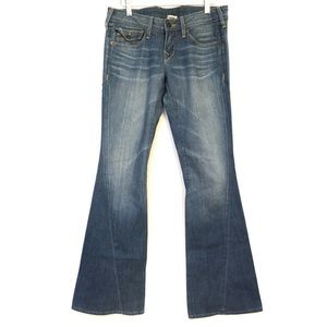 True Religion Stretch Big T Bell Bottom Jeans 28, used for sale